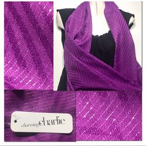 NWT Scarf by Charming Charlie Sheer Purple